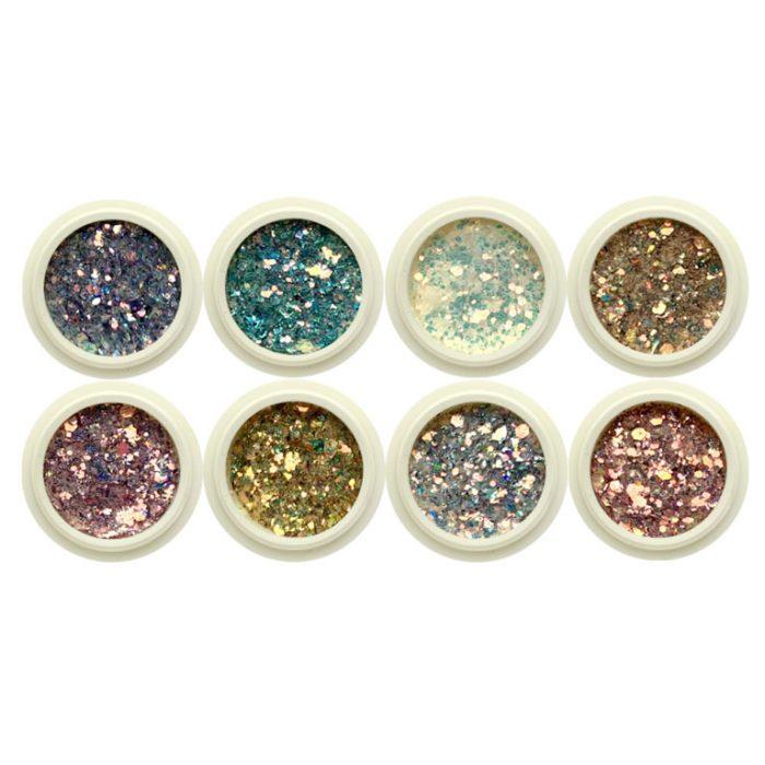 8pc Multicoloured Glitter Set